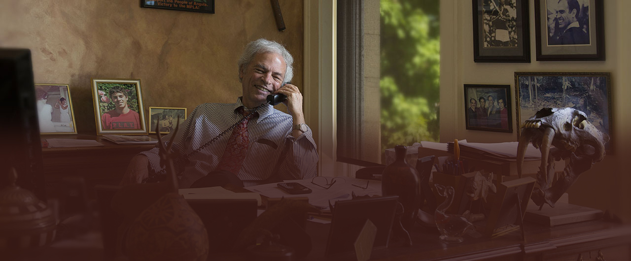 Greg of Kafoury & McDougal talking on phone