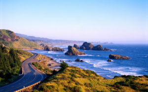 Southern Oregon Coast, Hwy 101 and Pistol River SP from Cape Sebastian B1644