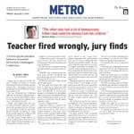 Teacher fired wrongly, jury finds