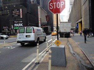 van in crosswalk